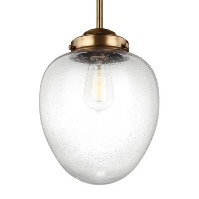 Varun 1-Light Mini Pendant Finish: Oil Rubbed Bronze, Size: 14.88 H x 11.12 W x 11.12 D