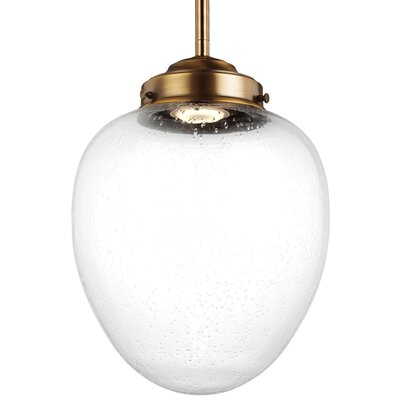 Ezra Mini Pendant Size: 17.25 H x 12.5 W x 12.5 D, Finish: Oil Rubbed Bronze