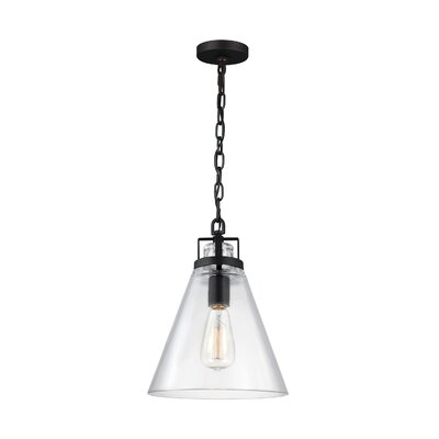 Pelham 1-Light Pendant Finish: Satin Nickel