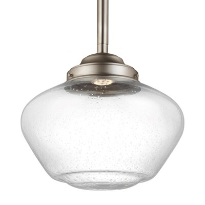 Varun 1 LED Integrated Bulb Schoolhouse Pendant Size: 10.75 H x 12 W x 12 D