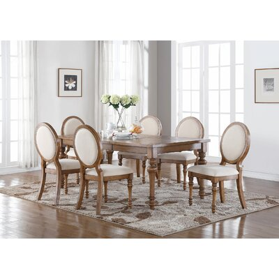 Calila 7 Piece Extendable Dining Set Frame Color: Birch Gray