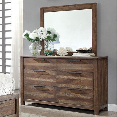 Fidelia Transitional Dresser and Mirror