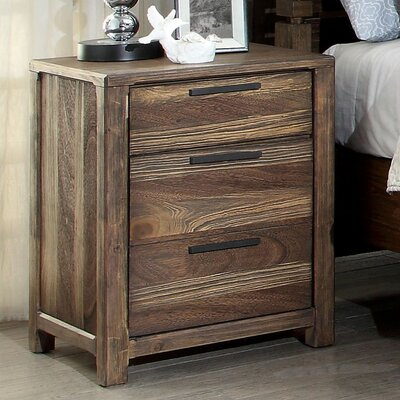 Fidelia 3 Drawer Nightstand