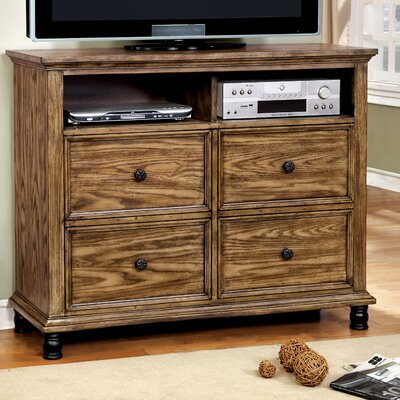 Zebadiah 4 Drawer Media Chest