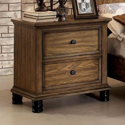 Zebadiah 2 Drawer Nightstand
