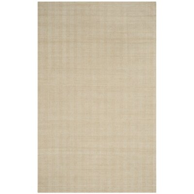 Laureldale Hand-Woven Beige Area Rug Rug Size: Rectangle 5 x 8