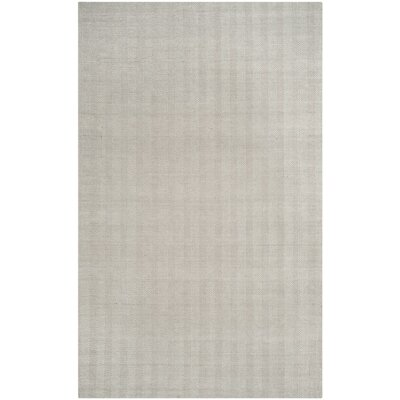Laureldale Hand-Woven Silver Area Rug Rug Size: Rectangle 4 x 6