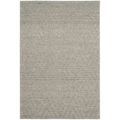 Billie Hand-Tufted Silver Area Rug Rug Size: 5 x 8