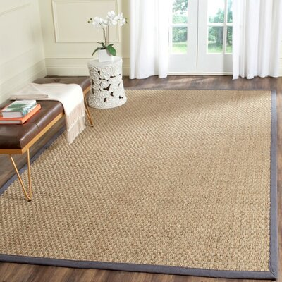 Binford Natural/Dark Gray Area Rug Rug Size: Round 6'