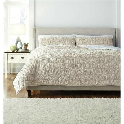 Boularderie Stitched 3 Piece Comforter Set Size: Queen