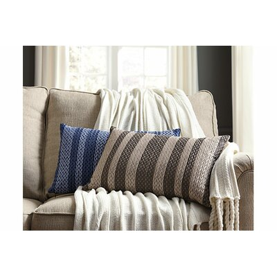 Liana Cotton Lumbar Pillow Color: Blue