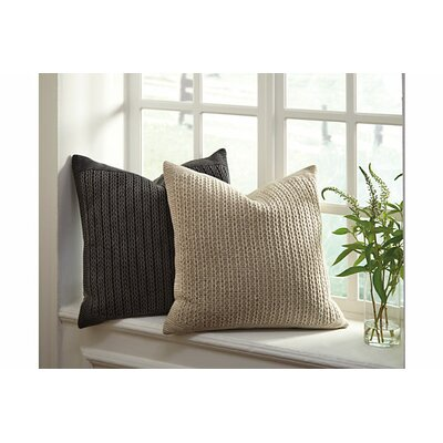 Lianes Throw Pillow Cover Color: Charcoal