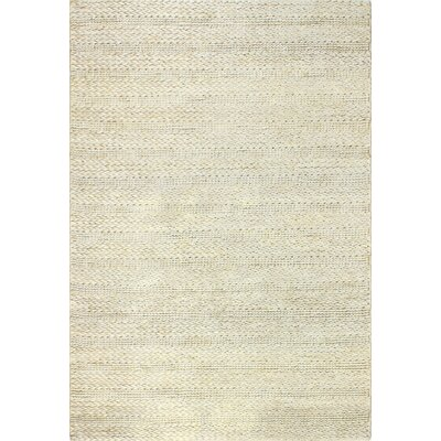 Chessington Hand-Woven Silver Area Rug Rug Size: 76 x 96