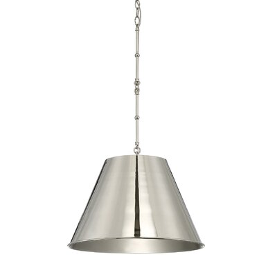 Nadeau 1-Light Mini Pendant Finish: Polished Nickel