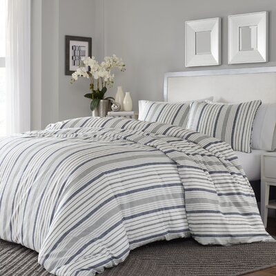 Dounia 3 Piece Reversible Duvet Cover Set Size: King