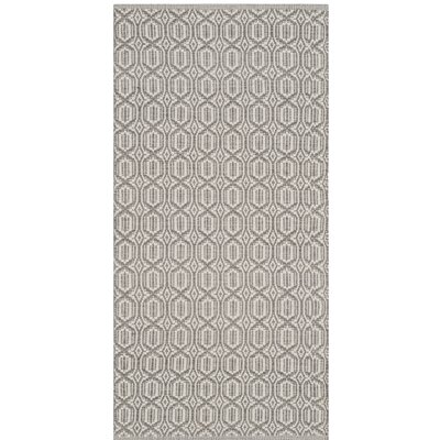 Oxbow Hand-Woven Ivory/Gray Area Rug Rug Size: Rectangle 23 x 39