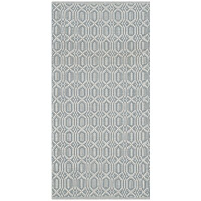 Oxbow Hand-Woven Beige/Blue Area Rug Rug Size: Rectangle 23 x 39
