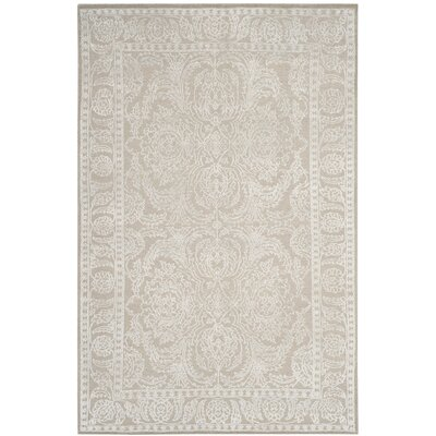 Mathieu Hand-Knotted Beige Area Rug Rug Size: 8 x 10