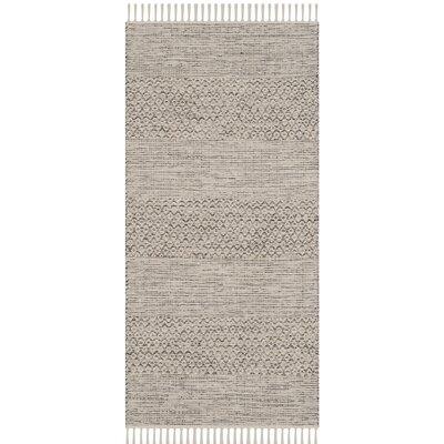 Oxbow Hand-Woven Ivory/Steel Grey Area Rug Rug Size: Rectangle 23 x 39