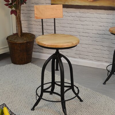 Lindsay Adjustable Height Swivel Bar Stool