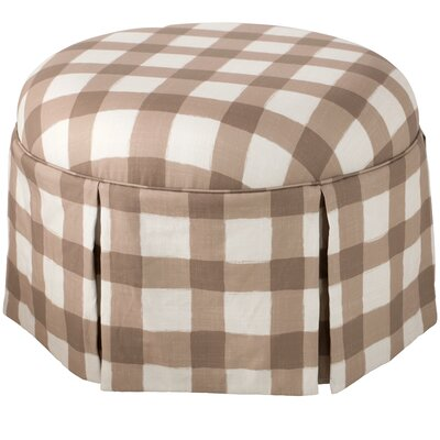Linnet Round Skirted Ottoman Color: Taupe