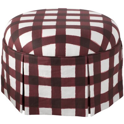 Linnet Round Skirted Ottoman Color: Red