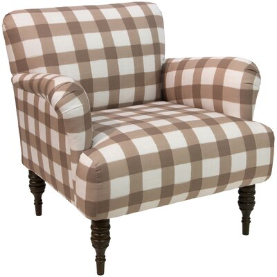 Linnet Patterned Armchair Upholstery: Buffalo Square Taupe OGA