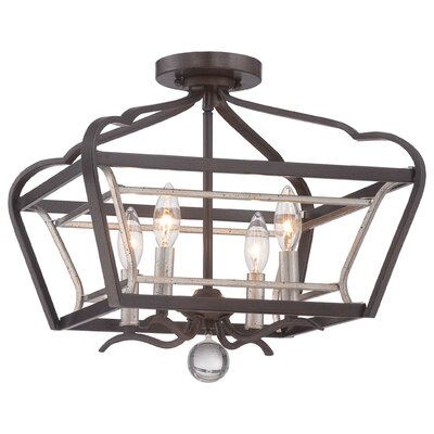 Evangeline 4-Light Semi Flush Mount