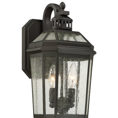 Gracie Oaks Krithika 2-Light Outdoor Wall Lantern