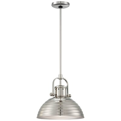 Filomena 1-Light Inverted Pendant Finish: Polished Nickel