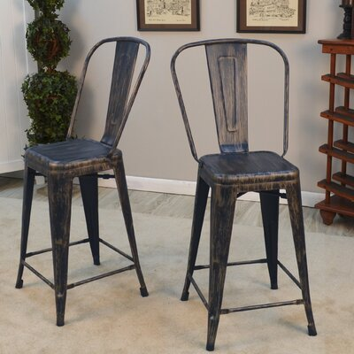 Cerisier 24 Bar Stool Finish: Antique Copper