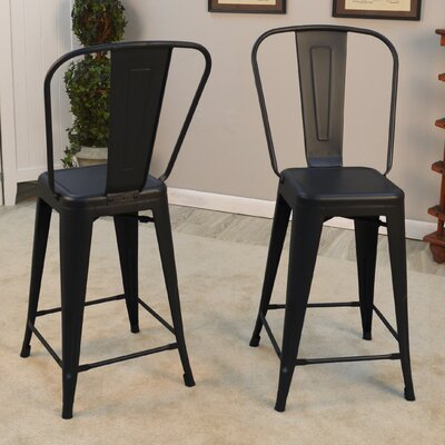 Cerisier 24 Bar Stool Finish: Black