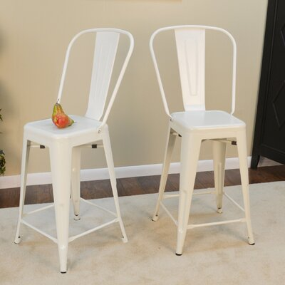 Cerisier 24 Bar Stool Finish: White