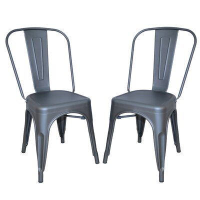Cerisier Side Chair Finish: Rustic Pewter