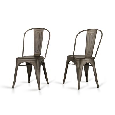 Drummond Rust Metal Dining Chair
