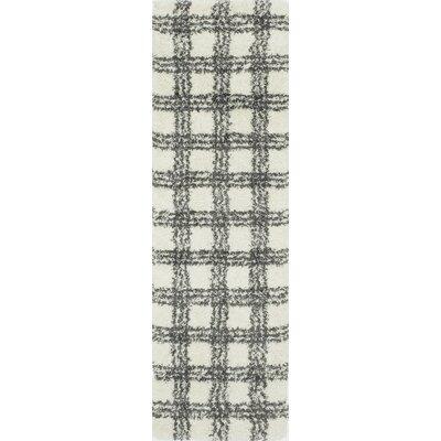 Opal�Ivory Area Rug Rug Size: Runner 23 x 76