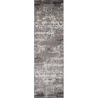 Autrey Gray Area Rug Rug Size: Rectangle 76 x 96