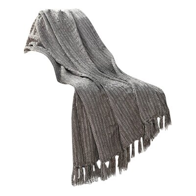 Boudreau Throw Blanket Color: Grey