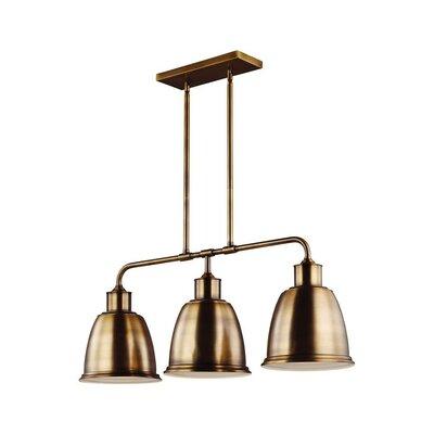 Celestine 3-Light LED Kitchen Island Pendant Finish: Aged Brass