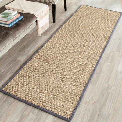 Binford Natural/Dark Gray Area Rug Rug Size: Runner 26 x 8