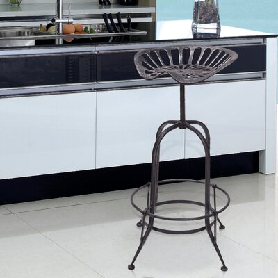 Sasser Adjustable Height Bar Stool Finish: Gunmetal