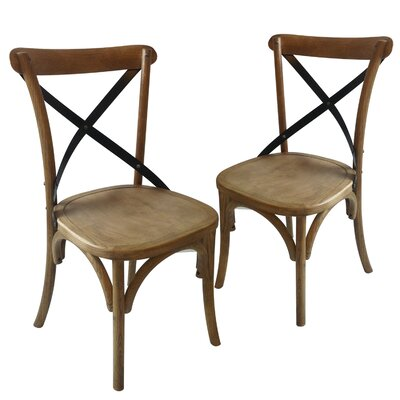 Maxence Side Chair Finish: Tan/Black