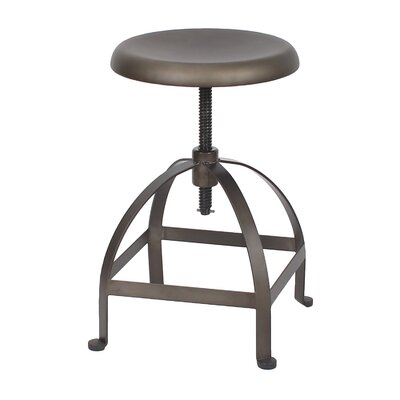 Maxeys Adjustable Height Swivel Bar Stool Finish: Bronze Matte