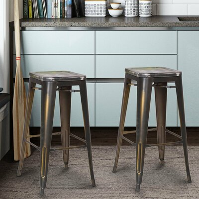 Monica 30 Bar Stool Base Finish: Distressed Copper