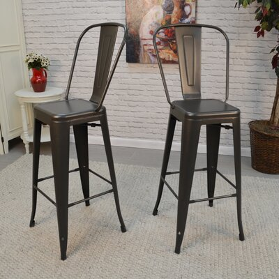 Cerisier 30 Bar Stool Finish: Rustic Pewter