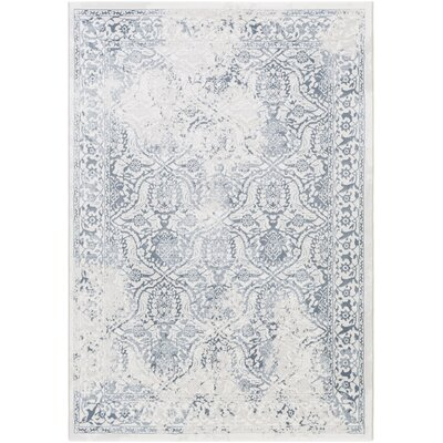 Mishti Oriental White/Gray Area Rug Rug Size: Rectangle 710 x 10