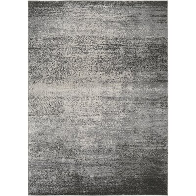 Hatboro Gray/Brown Area Rug Rug Size: Rectangle 53 x 73