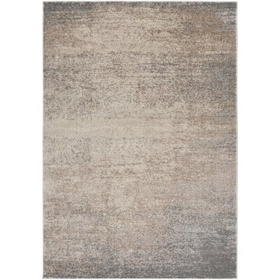 Hatboro Taupe Area Rug Rug Size: 53 x 73