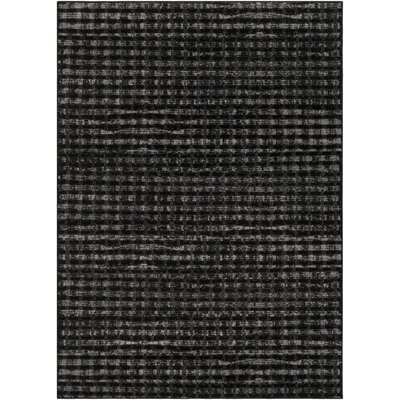Hatboro Black Area Rug Rug Size: Rectangle 2 x 37