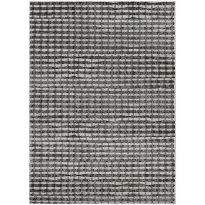Hatboro Gray/Black Area Rug Rug Size: Rectangle 53 x 73